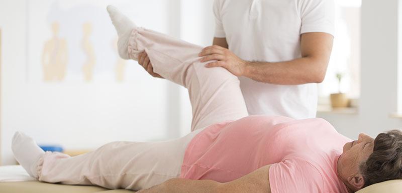 Rééducation après la pose d'une prothèse du genou