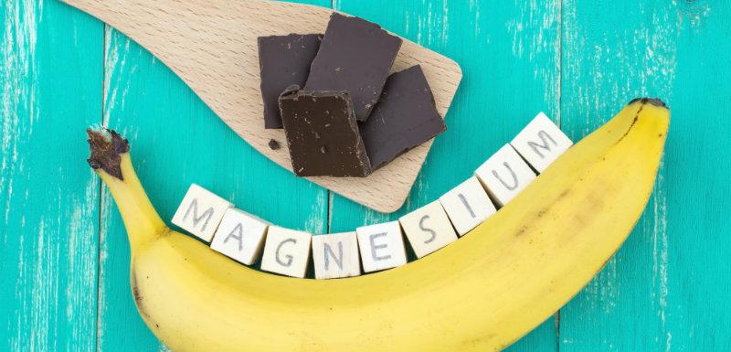 magnésium banane chocolat