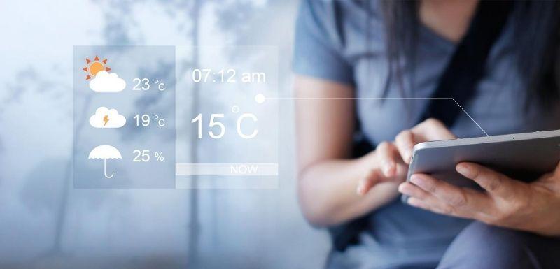 météo sur la tablette