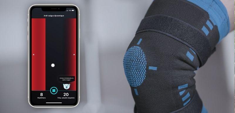 Genouillère connectée via application mobile pour arthrose du genou